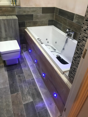 Image modern bathroom mood lighting